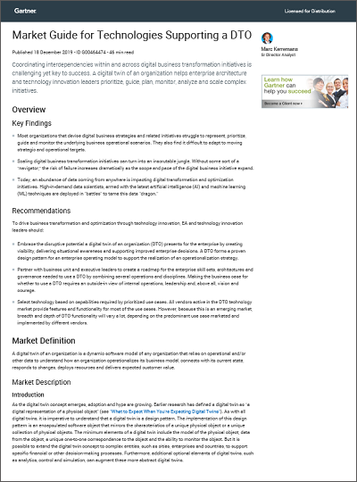 DTO Market guide Gartner